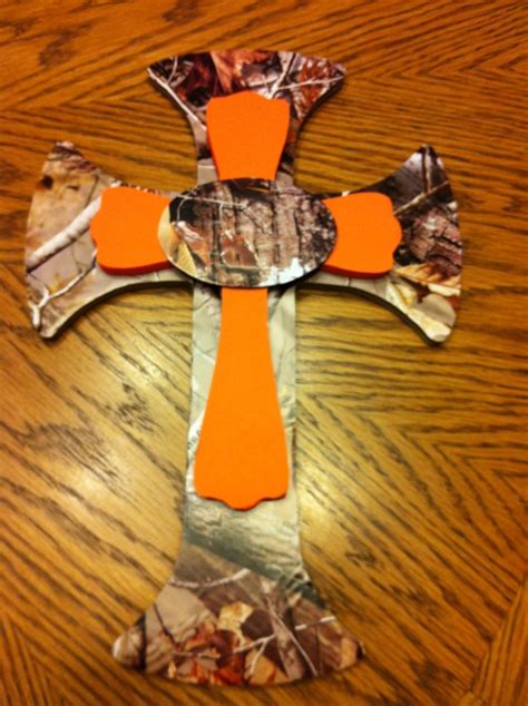 hunting decorations for home camo orange cross home decor crosses pinterest