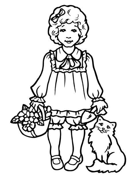 kawaii girl coloring pages cute girl coloring pages coloring home