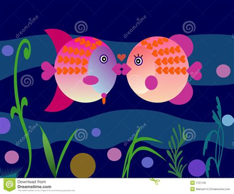 valentines day fish valentines fish stock illustration image of clip