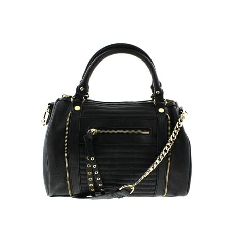 Steve Madden Purse by Steve Madden 4094 Womens Marena Black Leather Satchel Handbag Purse Medium Bhfo Ebay