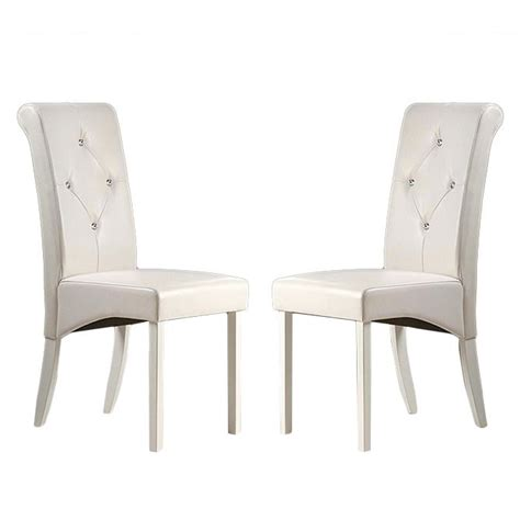 White Leather Dining Room Chair by 25 Best Ideas About White Leather Dining Chairs On