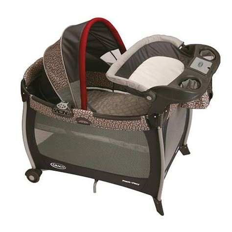 Play Yard With Changing Table Graco Pack N Play Silhouette Play Yard We Used This As Our Bassinet Changing Table Easily