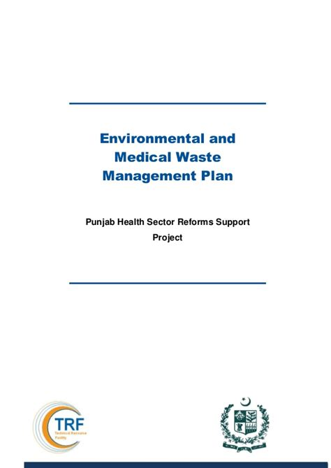 Depaul Health Sector Management Mba by Environmental And Waste Management Plan Punjab
