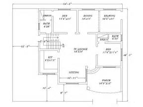 2d home design plan drawing 2d house plans gillani architects