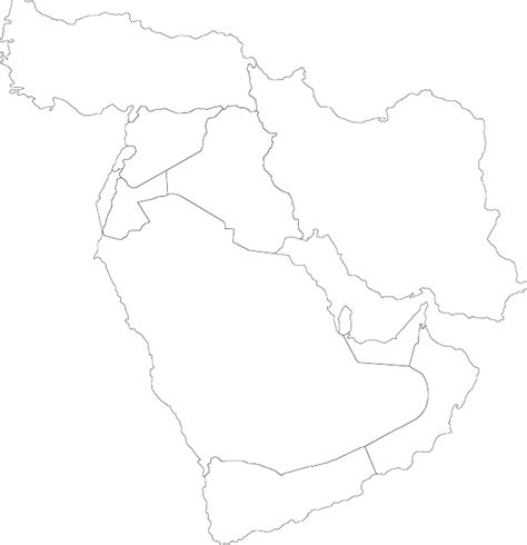 Gcc Countries Map Outline by Free Pictures Political 37 Images Found
