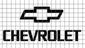 chevy logo crochet chart graph pattern
