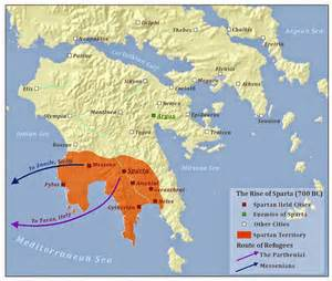 sparta map the of time the minoans aegean decline and the
