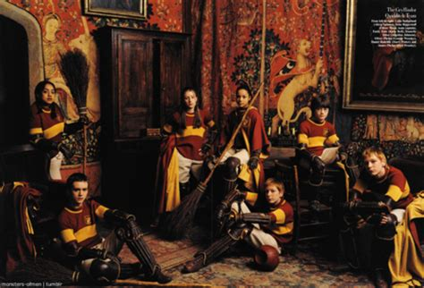 2001 gryffindor quidditch team harry potter vanity fair