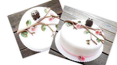 deko torte eulen torte deko beliebte rezepte urlaub kuchen foto
