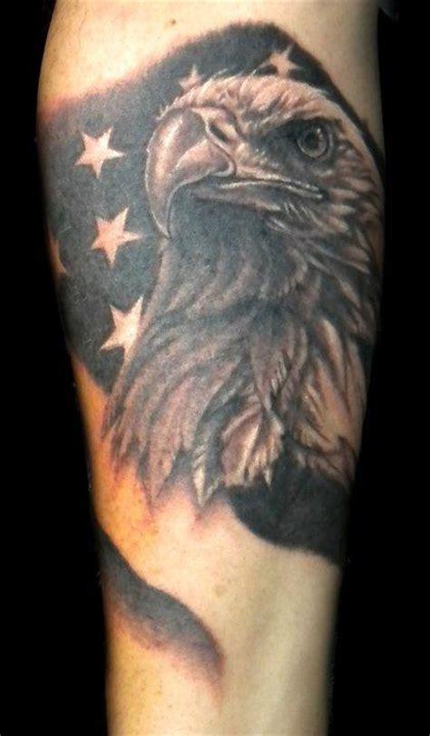 Black And Grey Eagle Tattoo | powerline tattoo tattoos animal black and grey eagle