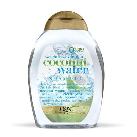 ogx shoo coconut water buy weightless hydration coconut water shoo 385 ml by