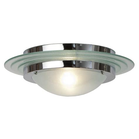 Large Art Deco Flush Fitting Circular Ceiling Light For Low Ceiling Lighting