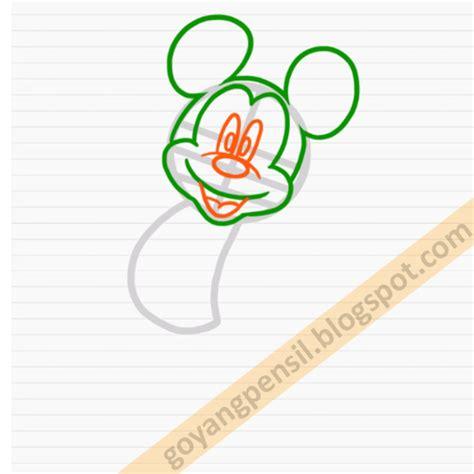 Pensil Kayu Kartun cara menggambar kartun mickey mouse goyang pensil