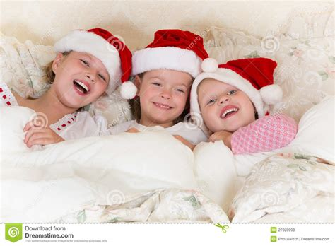 fun in bed christmas fun in bed stock photos image 27028993