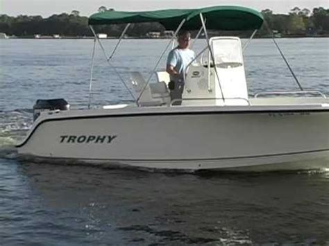 trophy boats reviews part 2 2004 trophy 1903 center console youtube