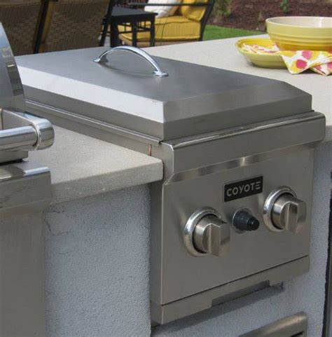 Outdoor Kitchen Gas Burner by Coyote Built In Propane Gas Side Burner