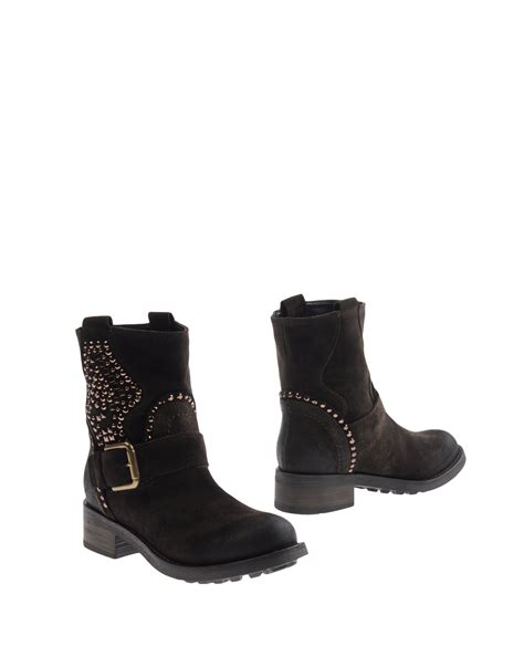 Nana Flats Brown nana ankle boots in black brown lyst