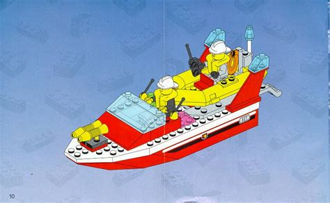 lego city yellow boat bricks argz