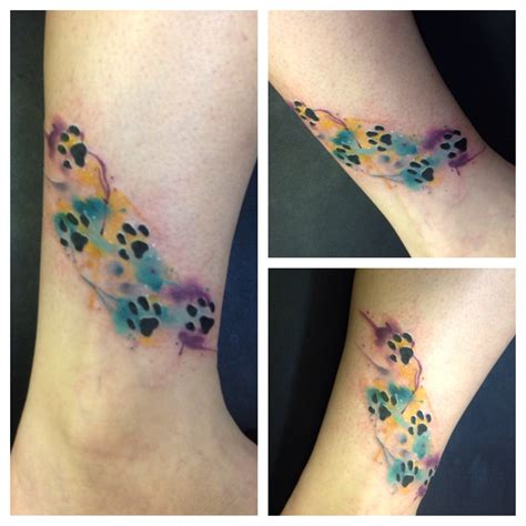 watercolor tattoo paw watercolor paw print tattoos by kirkwood