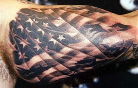 black and grey tattoo artists usa 9 flag tattoos on bicep
