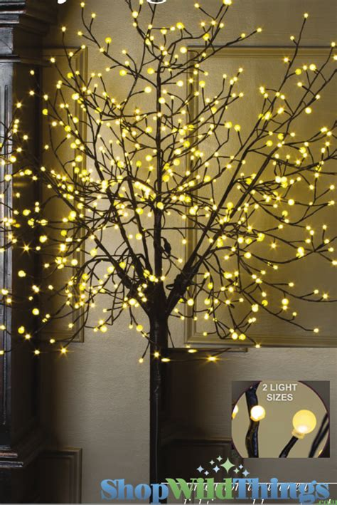 city lights led tree 8 feet tall 600 lights indoor
