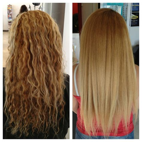 keratin treatment on layered hair keratin treatment before and after beautiful work at