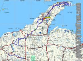 Road Map Of Michigan by Upper Michigan Road Map Bing Images