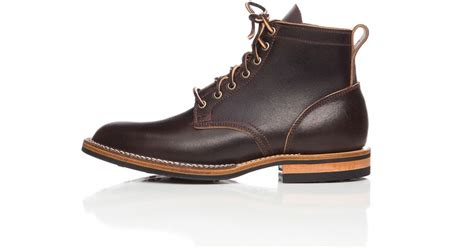 viberg boots viberg service boot in brown waxed flesh in brown for