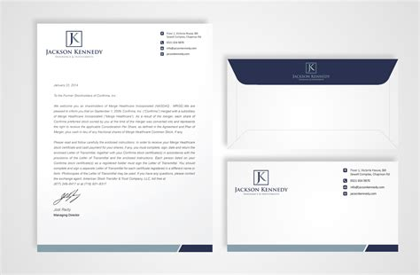 Finance Company Letterhead Serious Professional Letterhead Design For Aaron Wooster