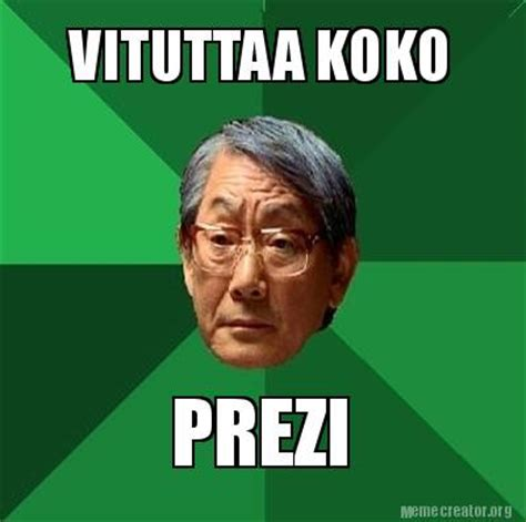 Meme Creator Own Photo - meme creator vituttaa koko prezi meme generator at
