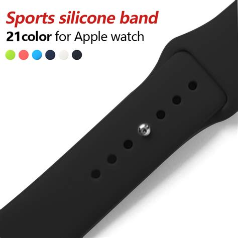 New Color Premium Sport Band For Apple Iwatch 38mm 42 Mm colorful soft silicone sport band for 38mm apple series3 2 42mm wrist bracelet for
