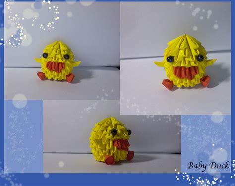 3d Origami Duck - 3d origami baby duck by xxxmarshmellowxxx on deviantart