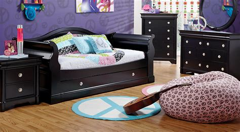 olivia 3 pc daybed bedroom rooms to go kids kids oberon black 6 pc daybed bedroom bedroom sets colors