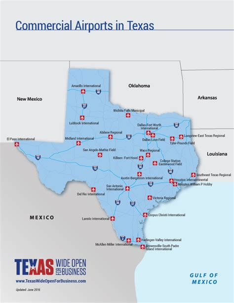 map of texas airports map room official texas economic development corporation