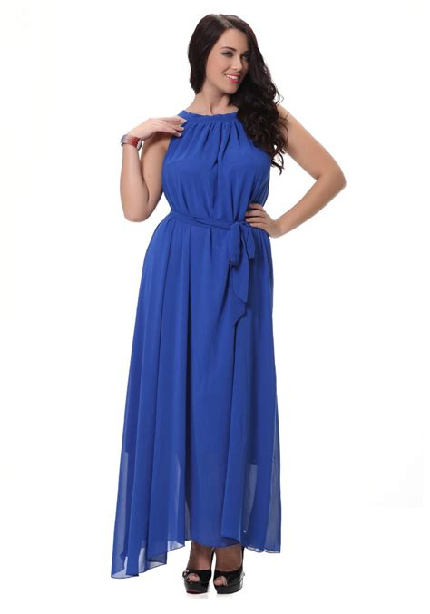 Sleeveless A Line Chiffon Dress unomatch sleeveless a line chiffon plus size dress