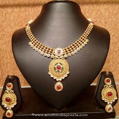 light weight set light weight kundan necklace set south india jewels