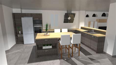 cuisiniste rouen table ilot bois wraste com