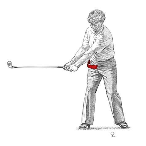hip rotation in golf swing golf instruction archives golf illustration