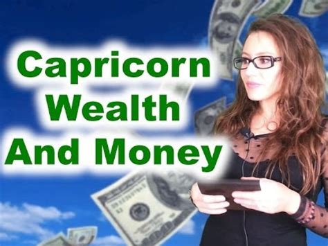 capricorn and money youtube