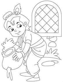 chota bheem or krishna az coloring pages