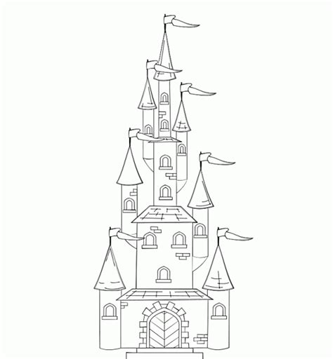 coloring pages disney castle disney princess castle coloring pages to kids