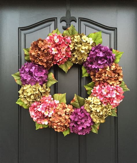 spring wreath for front door summer wreaths front door wreaths spring hydrangea wreath