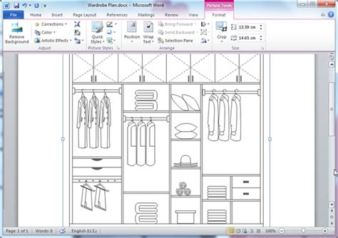 Plan Your Wardrobe by Closet Plan Templates For Word