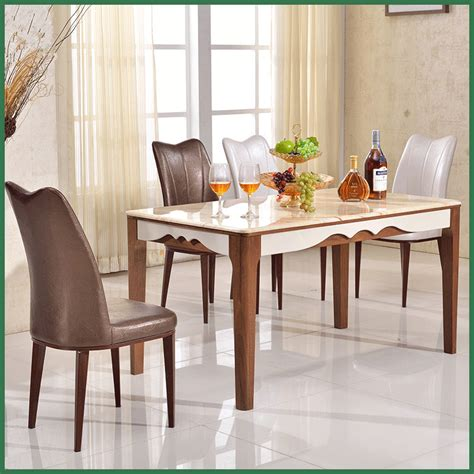 Dining Table Top Materials Wooden Material And Dining Table Specific Use Wooden Dining Table With Marble Top In Dining
