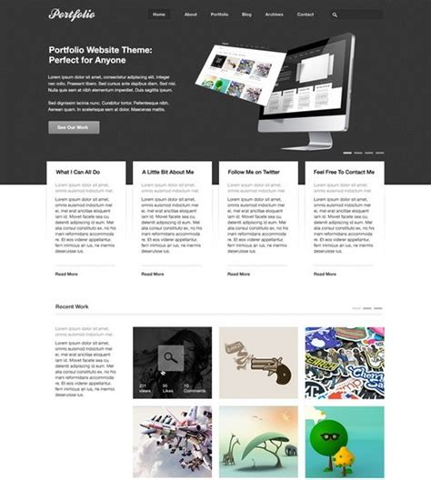 portfolio layout template photoshop 100 free photoshop psd website templates designscrazed
