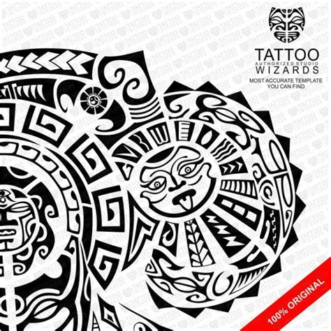 maori warrior of fury vector tattoo template stencil