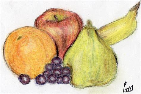 fruit drawings still fruit drawing by bav patel