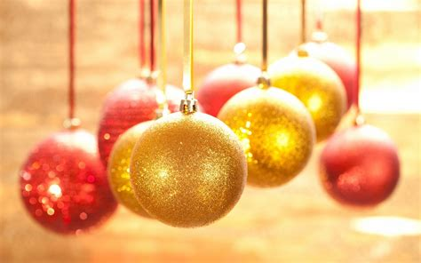 golden christmas ornaments christmas wallpaper 22229798