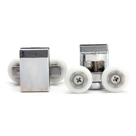 2pcs Double Wheels Shower Door Top Rollers For Sliding Sliding Shower Door Wheels