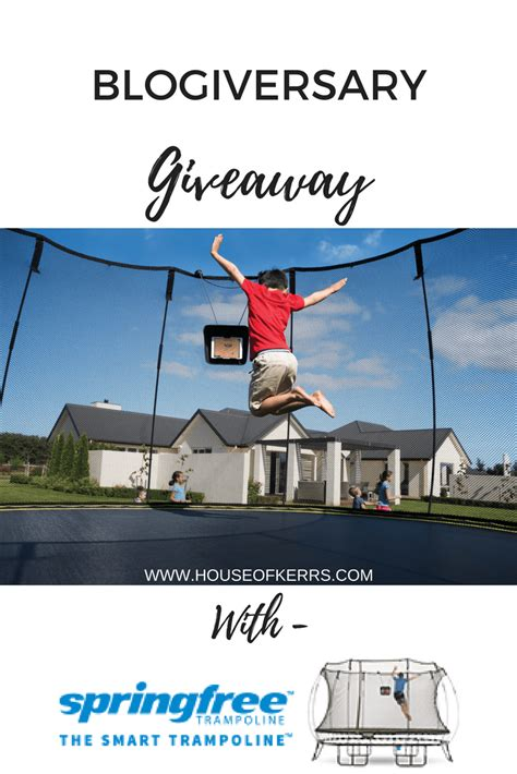 Blog Giveaways Canada - a big huge blogiversary giveaway with springfree troline canada